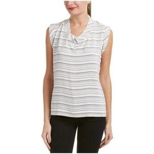 CABI #236 Madeline Striped Blouse Small